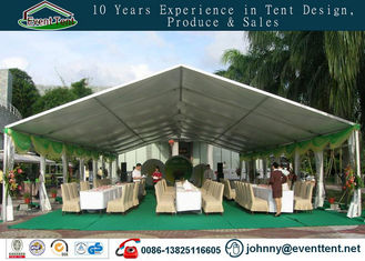 long life span strong fire proof wedding party tent with aluminum frame glass wall