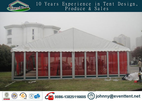Heat Insulation Fabric Large Party Tent With Glass Door Easy Installation