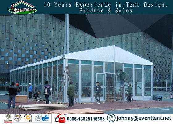 White Matt Fabric Covering Wedding Party Tent With Ventilation 30 X 40m