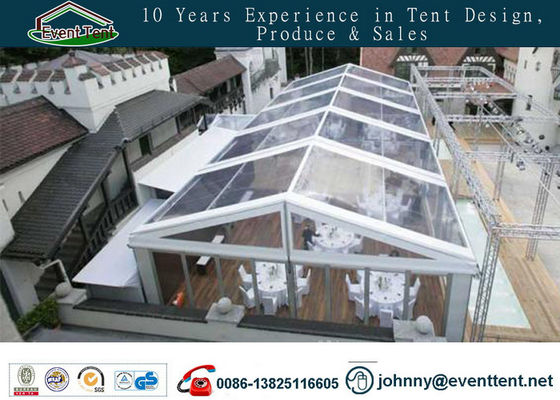 China Aluminum Frame Wedding Party Tent , Transparent PVC Roof Wedding Decoration Tent supplier
