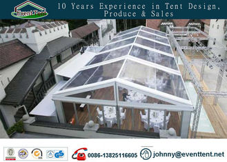Aluminum Frame Wedding Party Tent , Transparent PVC Roof Wedding Decoration Tent