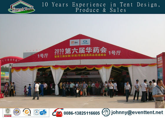 China Customized 10x30m Waterproof White And Red Large Aluminum Outdoor Event Tents supplier