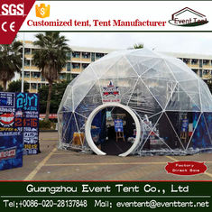 China Bigger Camping Tent With Toughened Glass Door , Canopy Party Tent Diameter 4m To 80m supplier