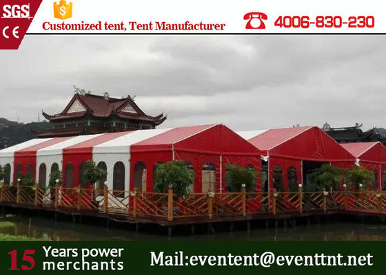 Professional big Top Party Tent , Customized Outdoor Tent With red roof