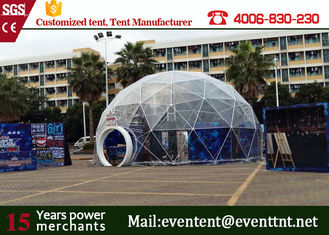China Clear Roof Beach Shelter Tent With Dual Blocked Out Sunshine PVC Coated Polyester Fabric supplier