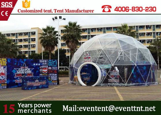 China Luxury Wedding Geodesic Dome Tent UV Resistant Outside With Clear Roof supplier