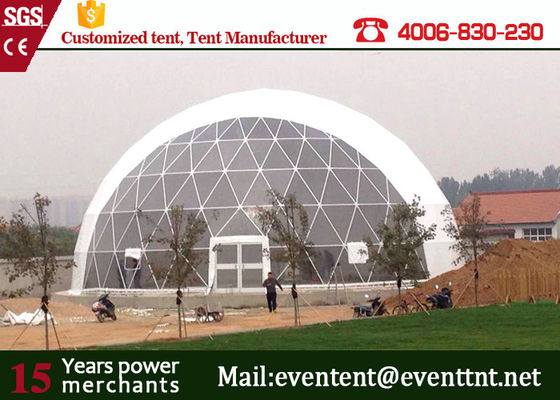 25meters diameter white PVC roof Large Dome Tent for 1000 people