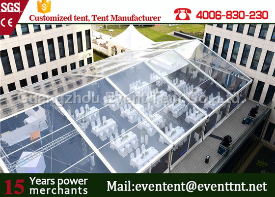 Fire Resistant Clear Span Tent White Windproof pvc marquee With VIP Cassette Flooring