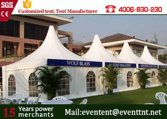 Stylish prefabricated house pagoda wedding tent with white waterproof cover for sale