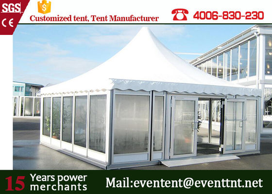 Event prefabricated hotel building special glass pagoda tent for exhibition