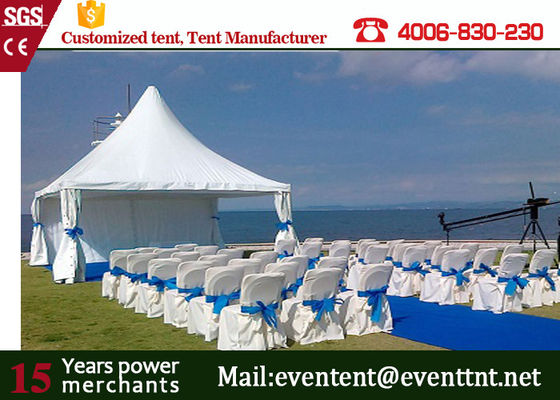 Outdoor Pagoda Party Tent Fireproof Color Optional With PVC Fabric Cover