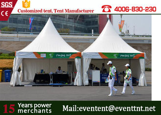 Self - Cleaning Pagoda Party Tent 650gsm PVC Cover With ABS Hard Wall SGS