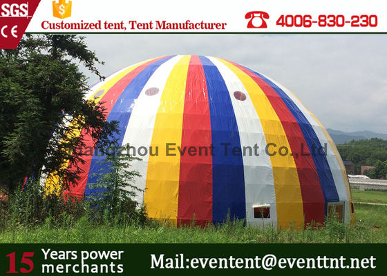 China Snow White Color Large Dome Tent Diameter 30m Transparent For Road Show supplier