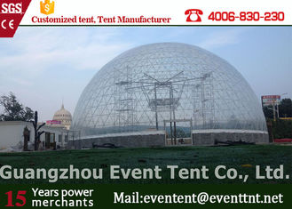 China Fashion Clear Geodesic Dome Tent  Fire Ratardant With Hot Dip Galvanized Steel Pipes supplier