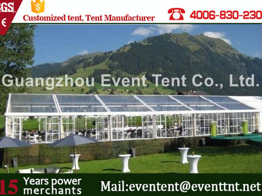 China All Sizes Luxury Clear Span Tent Outside Customized With Simple Cassette Flooring supplier