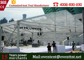 New Design 30m Width Clear Span aluminum Buildings With Glass Wall 800 Sqm Area