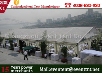 China Large Transparent Party Tent With Glass Wall , Clear roof marquee For Wedding SGS supplier
