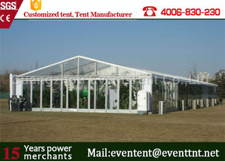 China Clear Roof Party Tent For 300 People , Transparent Wedding Tent With PVC Fabric supplier