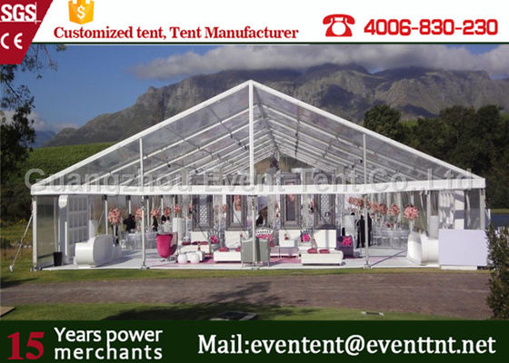 Waterproof  Clear Span Tent Aluminum Frame Structure For Outdoor Restaurant