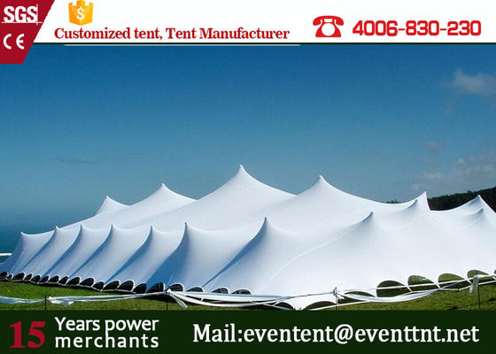 China Red Customized Freeform Stretch Tent Windproof With Mesh Window / Glass Window supplier
