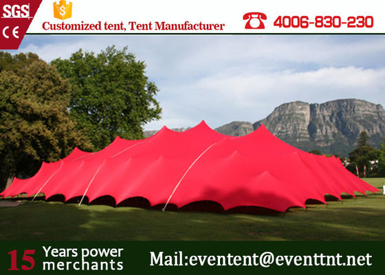 China Customized Pop Up Shade Canopy , Inflatable Clear Dome Tent With Inner Roof Beam Rain Gutter supplier