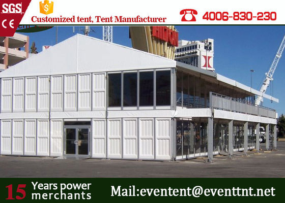 China Aluminum Alloy 30m Double Decker Tent ABS Wall With PVC Coated Polyester Fabric supplier