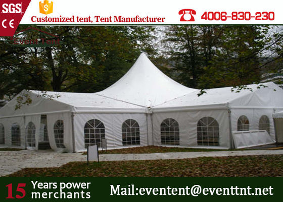 China Easy Up High Peak Tent Transparent Glass Window With Wedding Decoration supplier