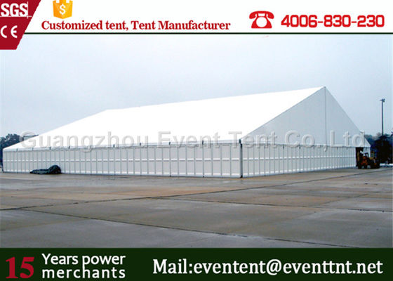 China 45m advertising luxury waterproof 850gsm pvc fabric outdoor warehouse tents supplier