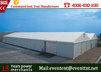 China Waterproof Outdoor Warehouse Tent 25 Meters With ABS Wall Clear Window supplier