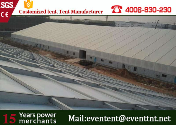 China Folding Outdoor Warehouse Tent for  workshop With Polyester Coated Waterproof PVC Fabric supplier