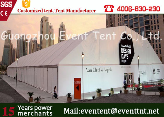 Outdoor Aluminum Arch Commercial Canopy Tent white For Gymnasium / Trade Show