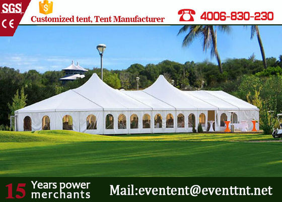 White cover 100 + people pagoda party tent with aluminum alloy for wedding event