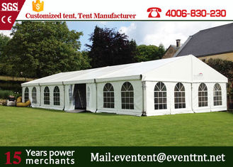 Custom Luxury Large White Wedding Tent , Outside Canopy Tent With Walls Custom Window