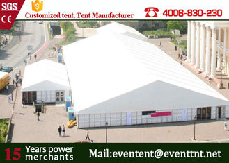 China Metal Frame White Party Marquee Permanent Outdoor Tents With Hot Dip Galvanized Steel supplier