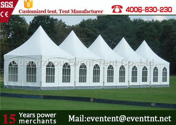 Pagoda / gazeboTent With Transparent white skin, Party Canopy Tent For Wedding
