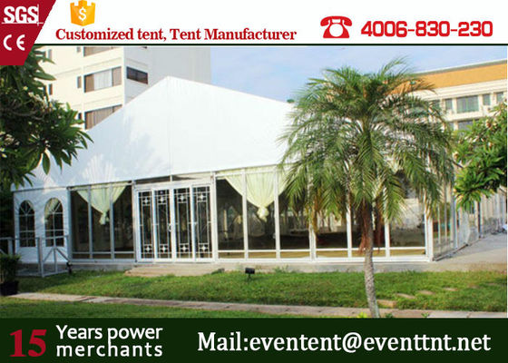 China Outdoor Big  A Frame Tent PVC Fabric With Hot Dip Galvanized Steel Parts supplier
