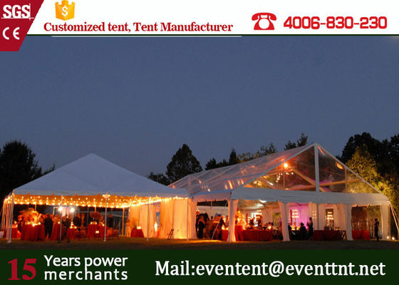 China 500 People clear wedding Tent With Hard Pressed Aluminum Alloy Fire Ratardant supplier