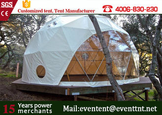 China 5m 6m 8m dia Wooden Floor Luxury Camping Tent Waterproof For Outdoor Hotel Easy Installation supplier
