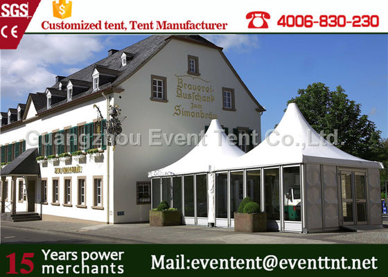 China Big Wedding Luxury Camping Tent Waterproof Square Roll Up Windows With Mosquito Net supplier