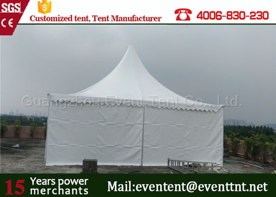 Fire ratardant white gazebo tent pagoda party tent with extruded aluminium alloy