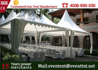10 x 10 m large aluminum structure large wedding pagoda tent for sale with white cover