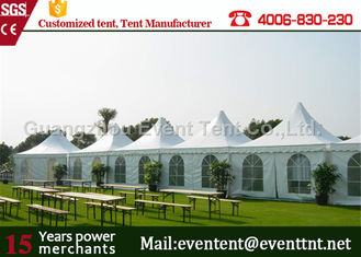 China 2016 fashion pavilion pagoda party tent for wedding event with decoration lining supplier