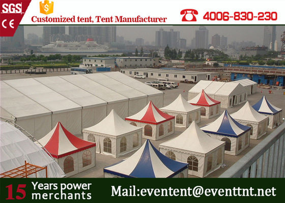 China Durable garden marquee pavilion pagoda party tent with logo printed for exhibition event supplier