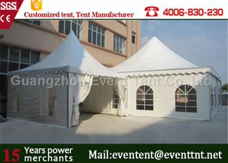 China Solar Power Folding Camping Tent White , Luxury Sun Shade Tent For Beach supplier