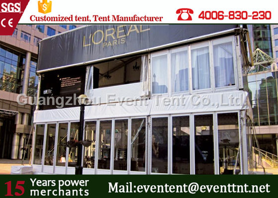 China Large 35m width double decker tent for game match competion watch with aluminum frame supplier