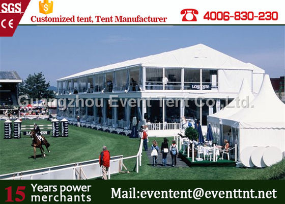 China Easy Installation pvc  Two Floor Tent White , A Frame Marquee Party Tent With Flooring supplier