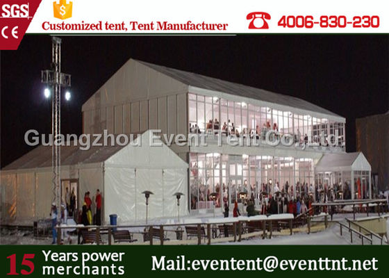 China Strong frame marquee double decker tent with aluminum structure for exhibition event supplier