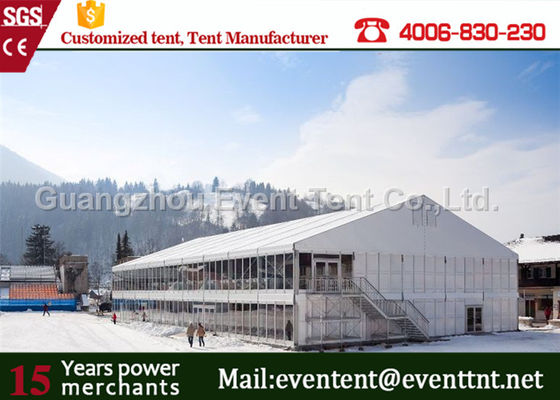 China Heavy Duty Marquee Tent With Decoration Lining ,Two Storey Tent With Strong Frame Pipes supplier