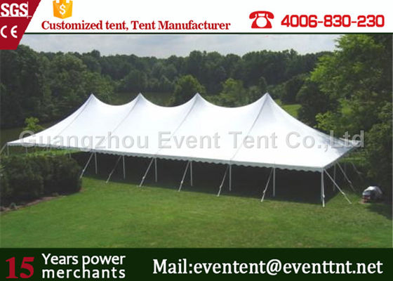 China Instant Canopy High Peak Tent Aluminum Frame Material With Flowers Decoration supplier