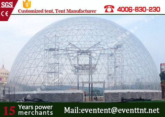 China Rain Proof White Geodesic Dome Tent 200 Kg / Sqm Snow Load For 1000 People supplier